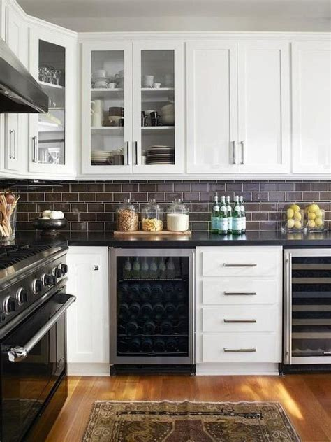 no backsplash in kitchen no more white 10 colorful subway tile backsplashes