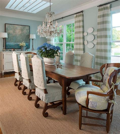 Dining Room Drapery Fabric Authentic Farmhouse With Inspiring Interiors Home Bunch