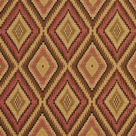 upholstery fabric southwestern pattern e726 red light green and beige woven southwestern
