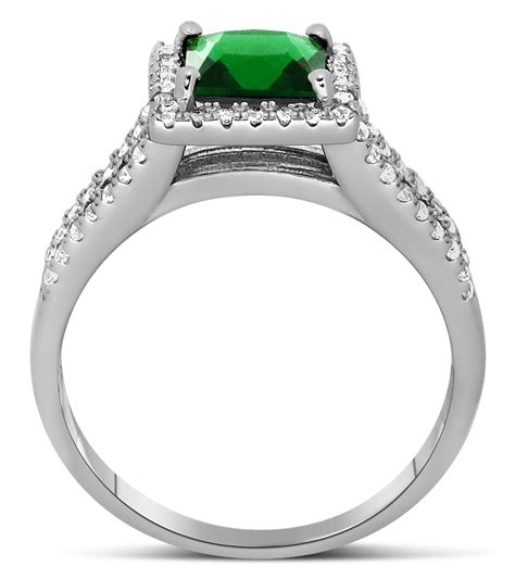 luxurious 1 50 carat princess cut green emerald and
