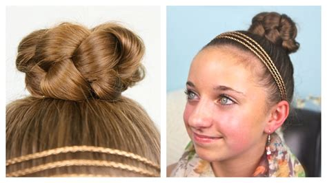 cute hairstyles in youtube simple braided bun updo cute girls hairstyles youtube