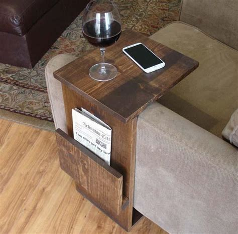 Customizable House Plans by The Handmade Sofa End Table With Side Storage Slot Gadgetsin