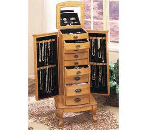 Pine Jewelry Armoire Powell Pine Finish Jewelry Armoire Qvc