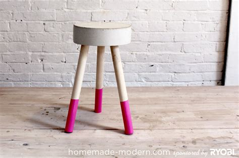 Concrete Stool Diy by Build Wooden Diy Stool Plans Diy Shop Shelf Plans