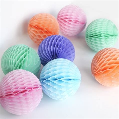 How To Make Decorative Paper Balls - tissue paper decoration by blossom