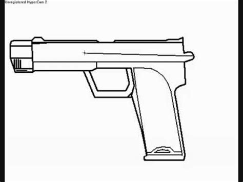 9mm Drawing by How To Draw A Half 2 9mm Pistol In Paint Part 1