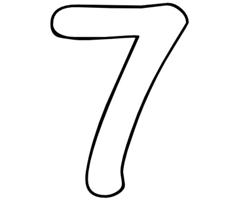 In Number 7 Colouring Pages sketch template