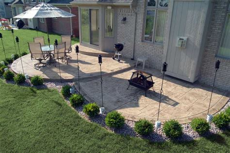 cement backyard ideas biondo cement sted concrete exposed aggregate