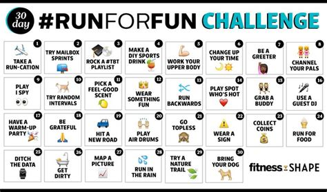 30 day challenge ideas fitness 25 best ideas about running challenge on 30