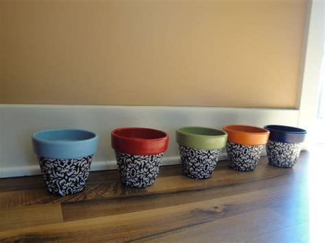 diy mod podge flower pot mod podge flower pots crafts flower pot