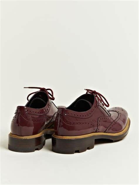 jil sander oxford shoes jil sander jil sander womens patent brogue oxford shoes in