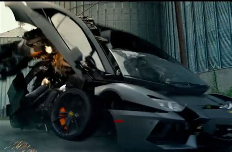 lamborghini transformer lamborghini aventador in transformers 4 age of extinction