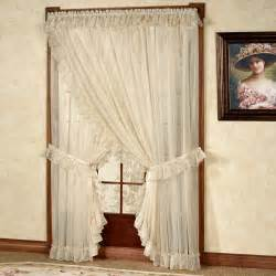Wide Window Curtains Ninon Ruffled Wide Priscilla Curtains