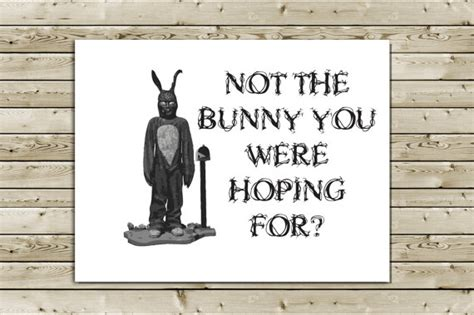 items similar to donnie darko easter greeting card