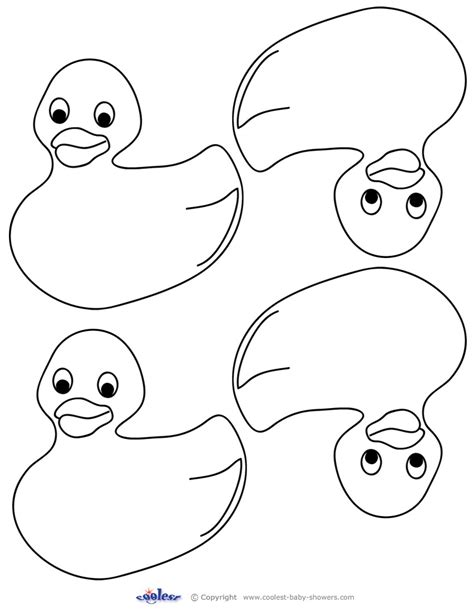 free coloring pages of rubber duck