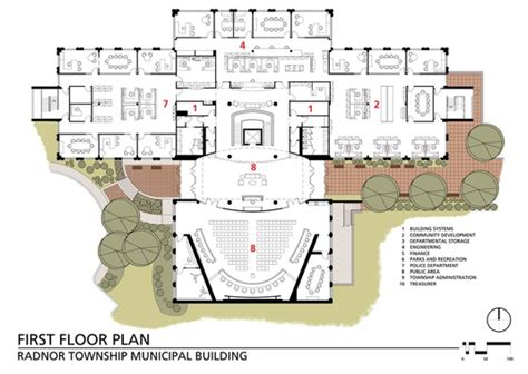 municipal hall floor plan project radnor township municipal building mid atlantic