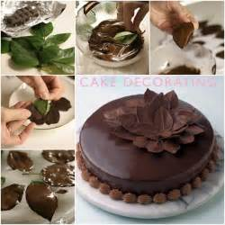 Decoration Of Cake At Home by Diy Chocolate Leaf For Cake Decorating Video