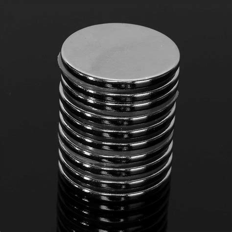 Murah Neodymium Magnet 3mm 10pcs 30mm x 3mm disc strong magnets earth neo neodymium n52 circular magnet
