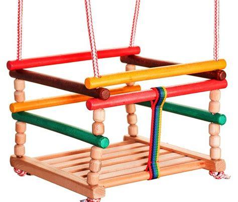 outdoor baby swing wooden baby swing indoor door outdoor chair rope