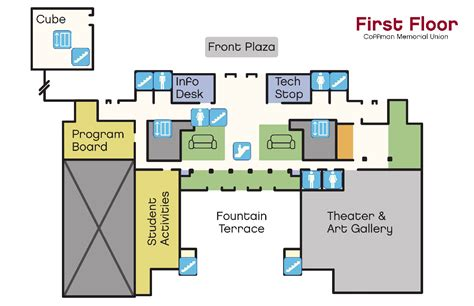 Coffee Shop Floor Plans by Coffman Memorial Union Student Unions Amp Activities