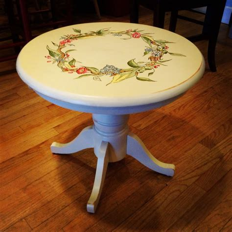 small   table hand painted handpainted furniture
