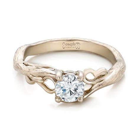 custom organic solitaire engagement ring 102067