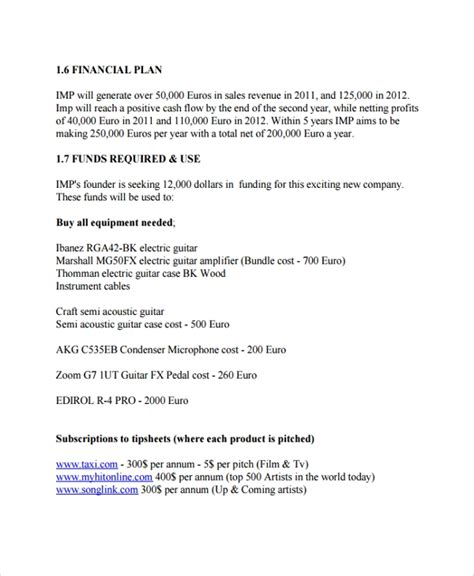 Recording Studio Business Plan Sle Muzssp X Fc2 Com Studio Business Plan Template