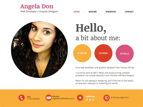 stunning resume portfolio website exles pictures