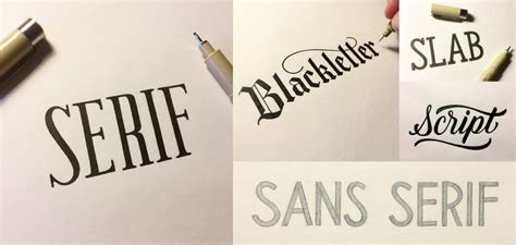 different lettering styles an introduction to 5 common lettering styles