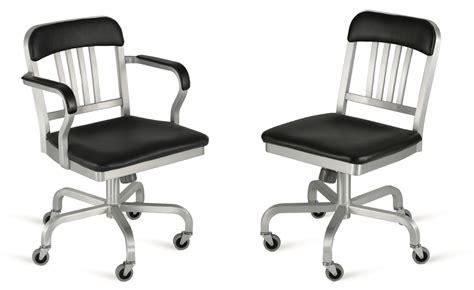emeco navy upholstered chair emeco navy semi upholstered swivel side chair hivemodern
