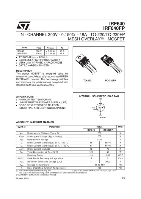 Irf 640n Mosfet Irf 640 buy irf640 n channel mosfet price in india robomart