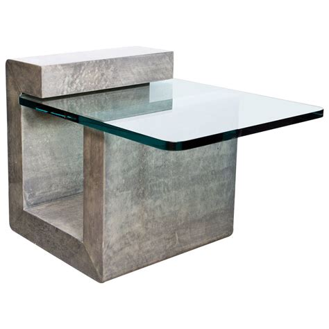 Tisch Modern 1668 modernist lacquered parchment side table tisch m 246 bel