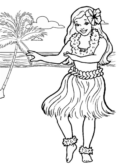 hawaiian princess coloring pages luau coloring pages birthday printable