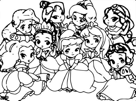 Coloring Pages Of Baby Princesses Disney Baby Princess Coloring Pages Az Coloring Pages