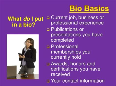 bio exles for presenters how to write a great bio