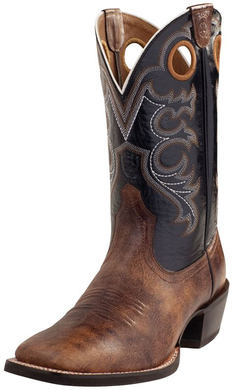 square toe mens cowboy boots ariat s crossfire wide square toe western boots