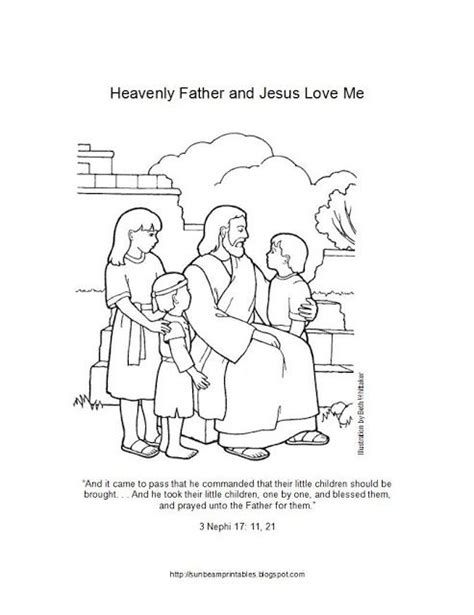 Sunbeam Printables Coloring Page For Lesson 6 Heavenly Lds Sunbeam Coloring Pages