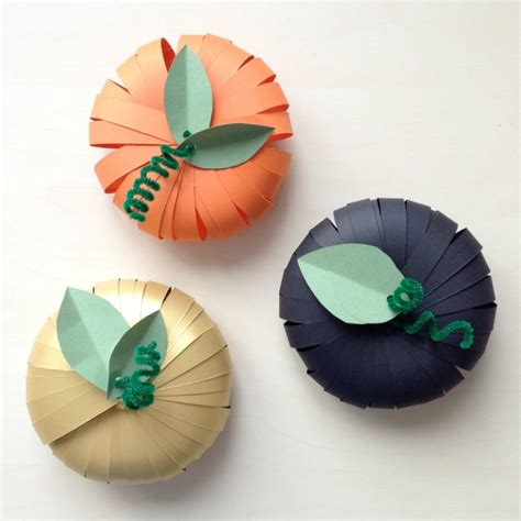 How To Make A Paper Pumpkin - craft make paper pumpkins
