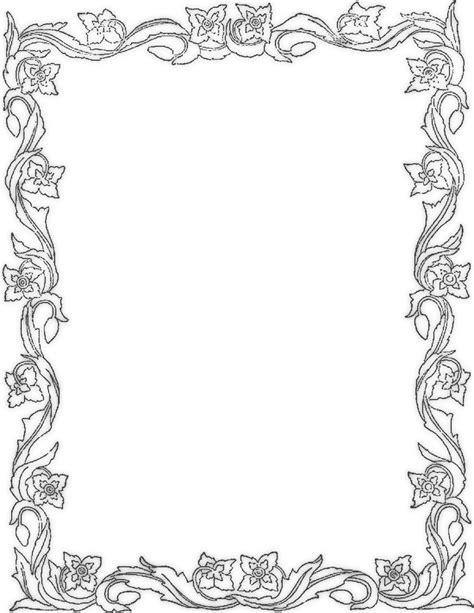border designs coloring pages primrose border page frames floral primrose border png html
