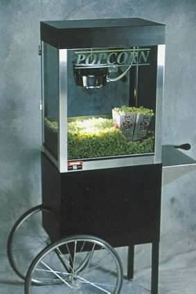home theater popcorn machine  matching cart oz kettle