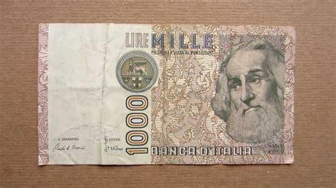 d italia lire mille 1000 italian lire banknote thousand italian lire 1982