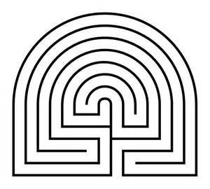 Labyrinth Outline by File Caerdroia Labyrinth Diagram Png