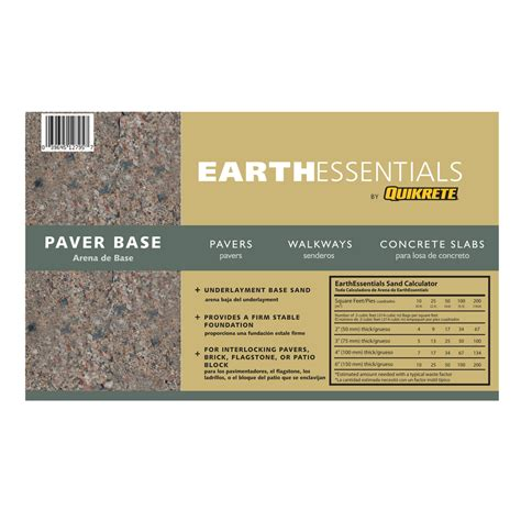 patio paver base sand shop earthessentials by quikrete 0 5 cu ft paver base sand