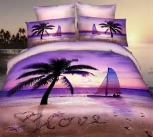 Palm Tree Bedroom Furniture Theme Bedding