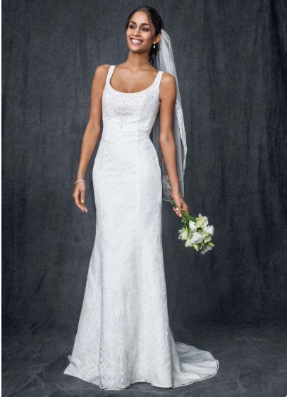 Tank Style Wedding Dresses by All Lace Tank Gown With Illusion Back Davids