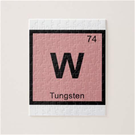 w tungsten chemistry periodic table symbol puzzle