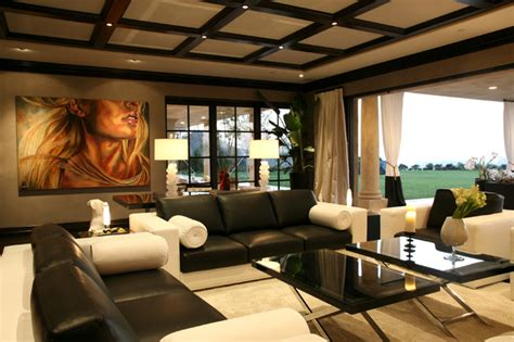 Versace Living Room Design by Versace House For Esquire