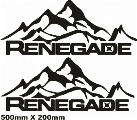 mountain jeep decals jeep renegade rear mountain decals stickers graphics