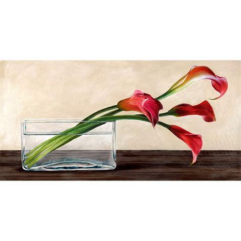 vaso con calle quadro pianta fiori vaso con calle n 3 sta su mdf tela