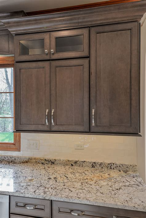 grey stained maple cabinets wellborn cabinet inc premier series sonoma door style on